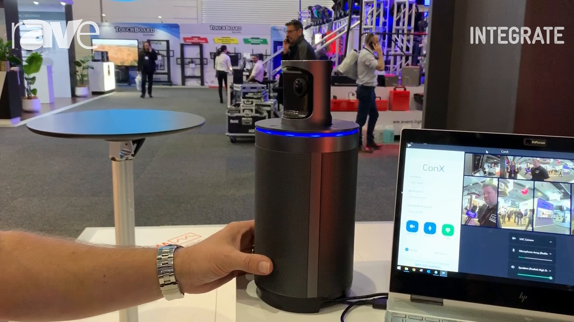 Integrate 2019: InFocus Presents ConX360 360º Camera for UC Applications on the Westan Stand