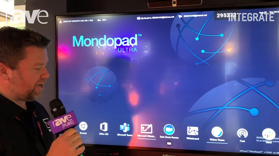Integrate 2019: InFocus Talks Mondopad Ultra Collaboration Software on the Westan Stand