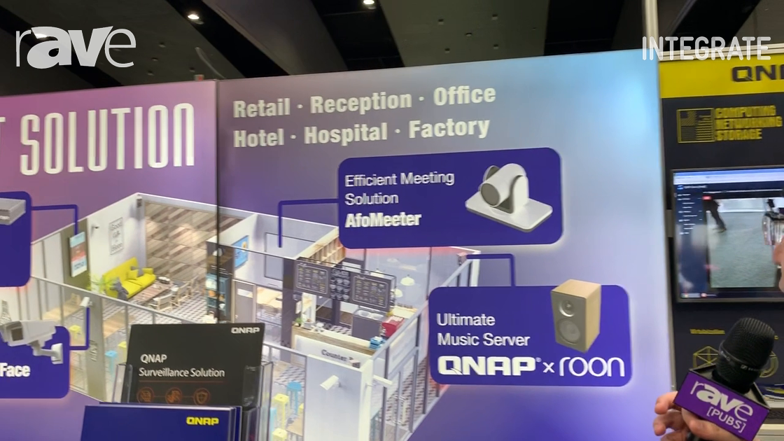 Integrate 2019: QNAP Shows AfoMeeter Meeting Room Solution, QNAP Music Server, Cavin DS CMS and More