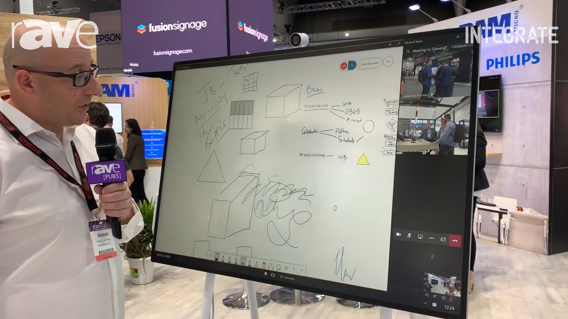 Integrate 2019: Ingram Micro Shows Off the Surface Hub 2S Interactive Whiteboard Solution