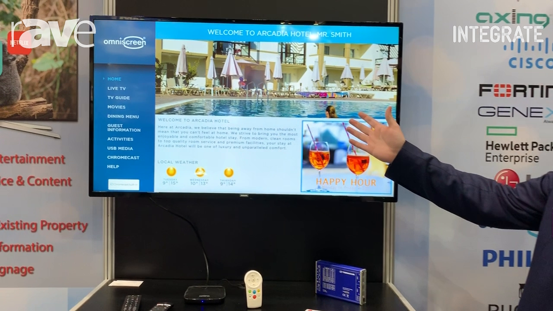 Integrate 2019: CombiTel Presents Omniscreen Guest Room Software for Hospitality Solutions