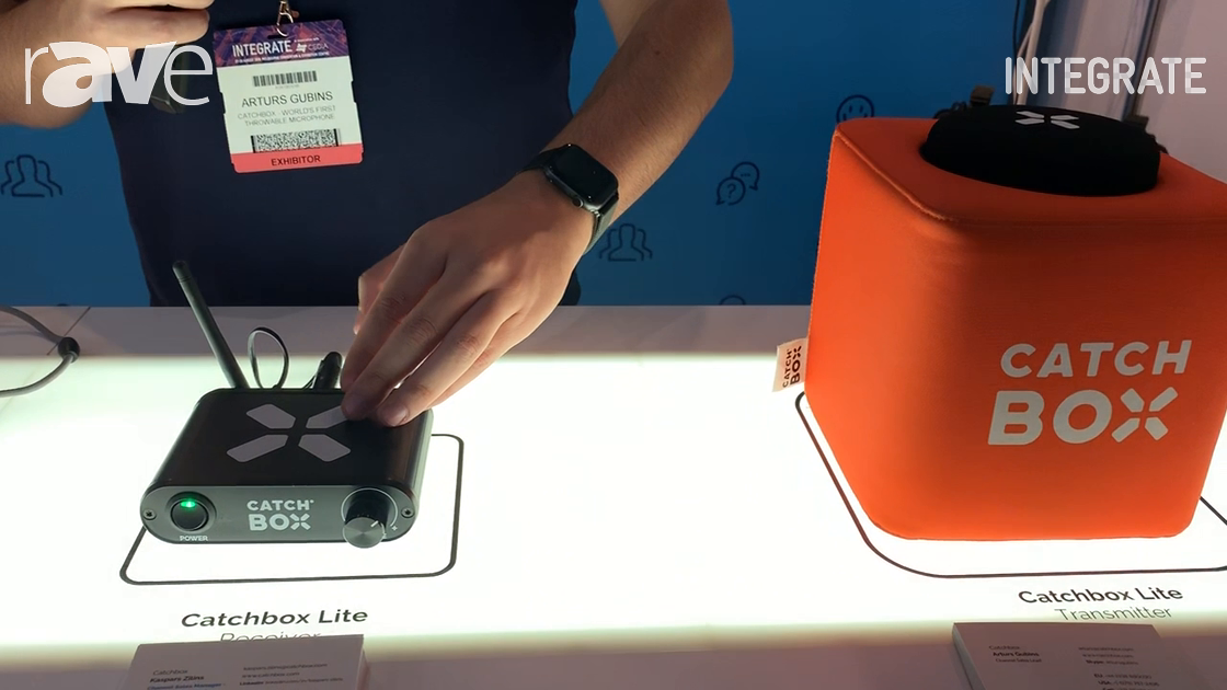Integrate 2019: Catchbox Exhibits Its Catchbox Lite Wireless Microphone System
