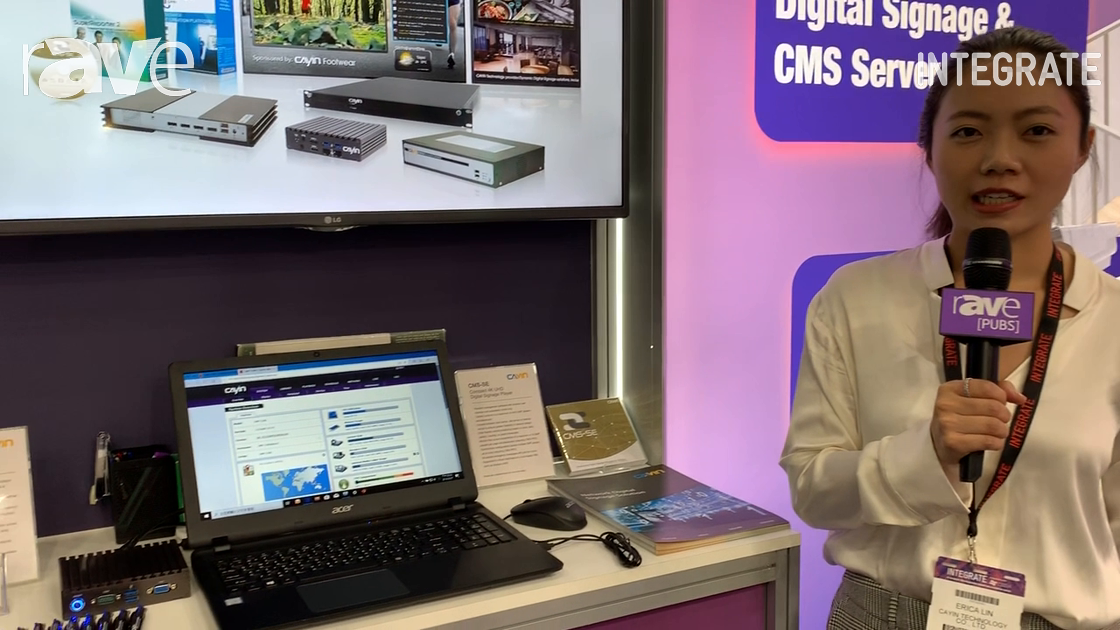 Integrate 2019: Cayin Technology Features Its SMP-2200 Digital Signage Player