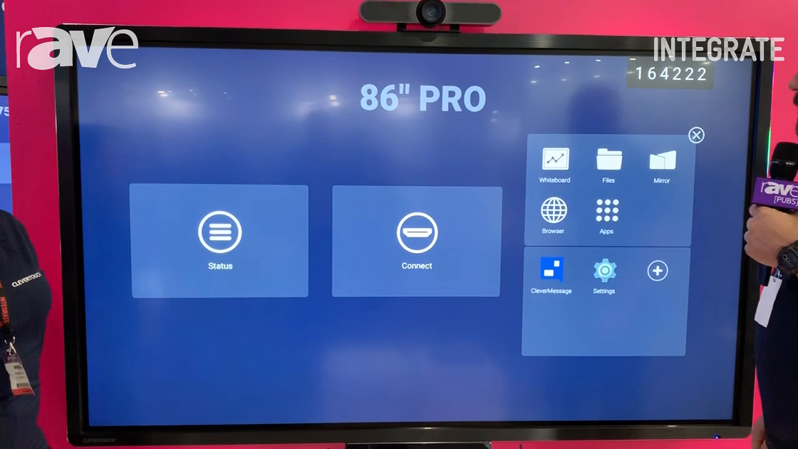 Integrate 2019: Clevertouch Highlights Pro Series Collaboration Display on ASI Solutions Stand
