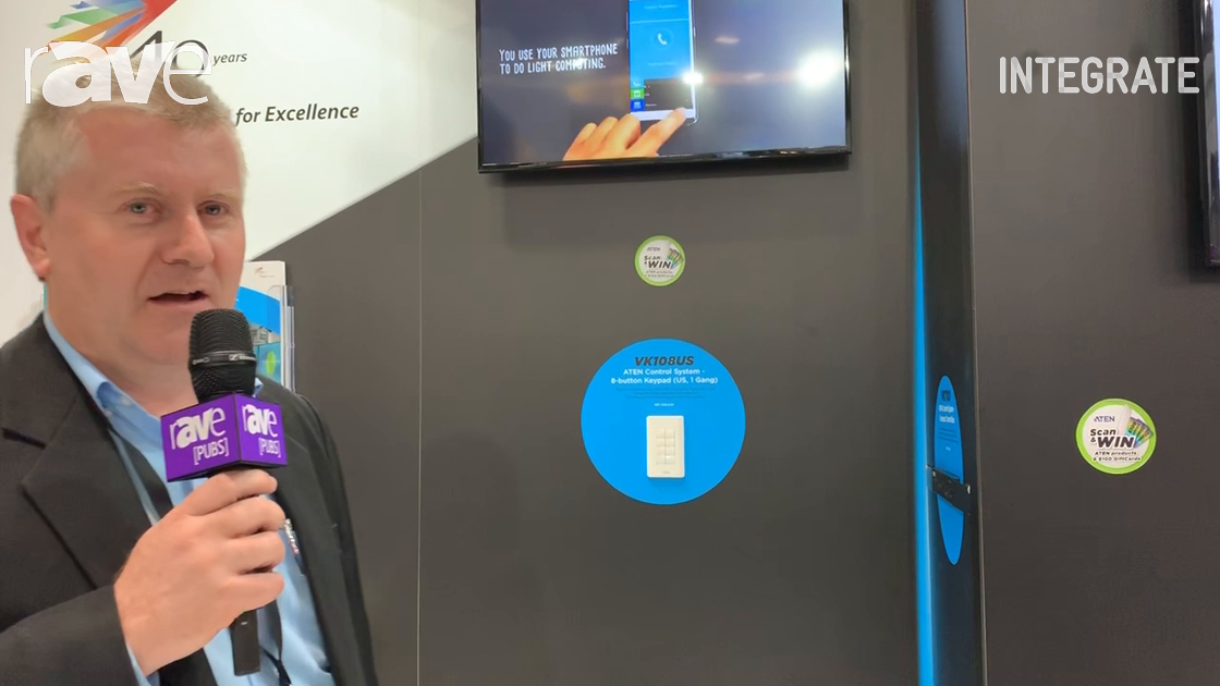 Integrate 2019: ATEN Overviews VanCryst VK1100 Compact Control System with VK108US 8-Button Keypad