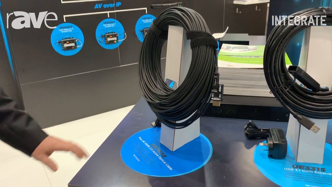 Integrate 2019: ATEN Shows Off 4K HDMI 2.0 Active Optical Cables Including VE7834, UE3315