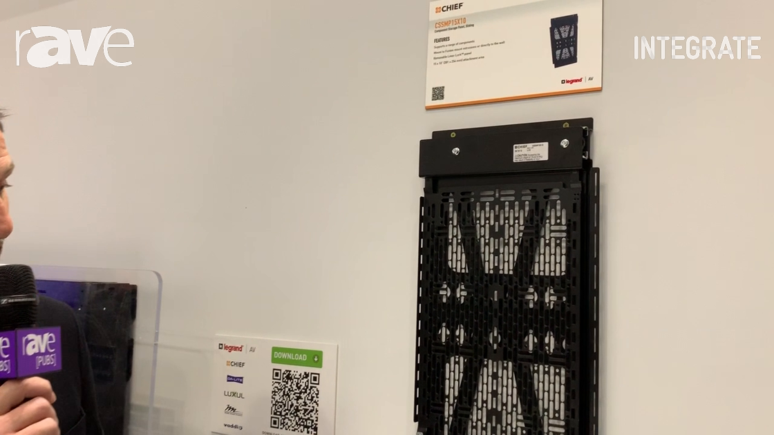 Integrate 2019: Chief Showcases the CSSMP15X10 Behind-Panel Storage Solution on the Midwich Stand