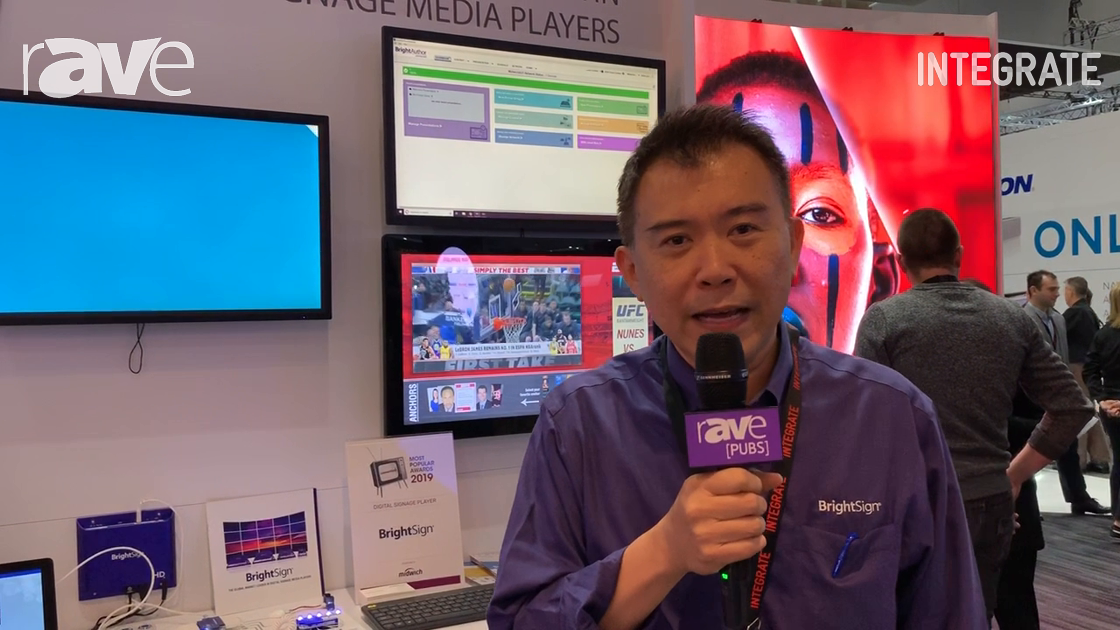 Integrate 2019: BrightSign Shows Video Wall Player Solution, Demos Nexmosphere Sensor Integration