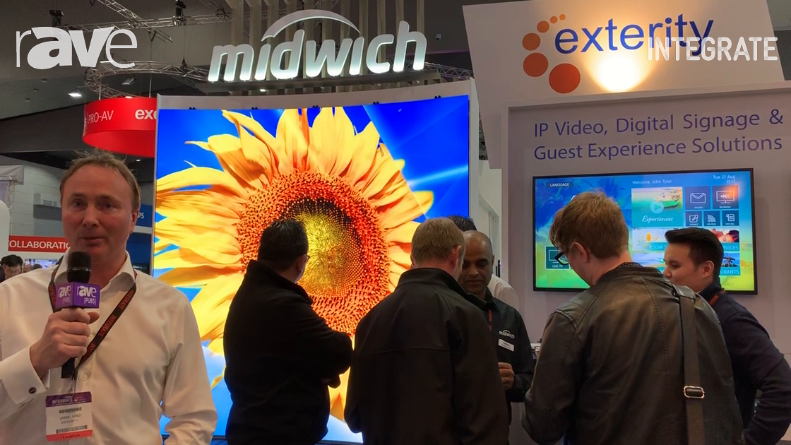 Integrate 2019: Exterity Showcases IP Video, IPTV and Digital Signage Solutions on Midwich Stand