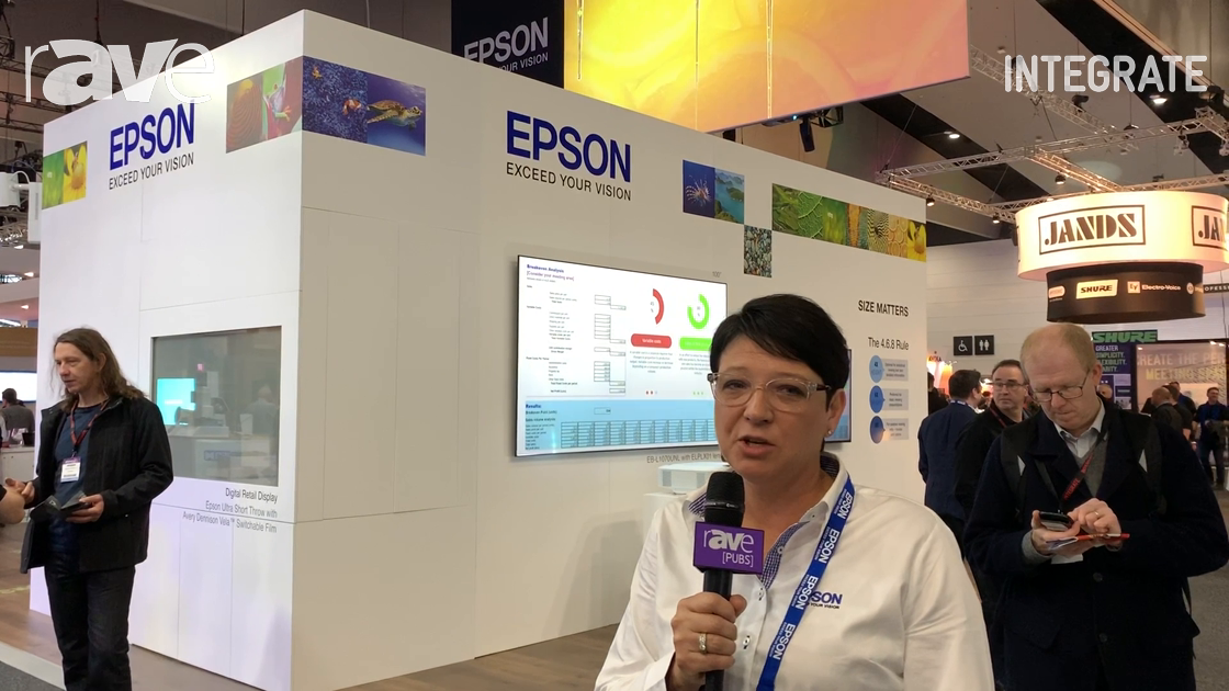 Integrate 2019: Epson Showcases 30,000-Lumen Projector for Large Venues With Five Lens Types