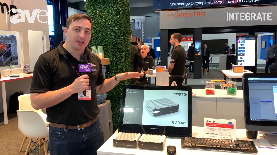 Integrate 2019: HRT Features the Huddle Hub Wireless Presentation Device on the Jands Stand