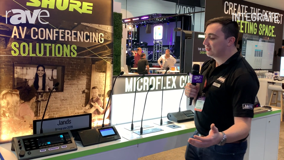 Integrate 2019: Shure Features the MXC and MXCW Digital Conference Systems on the Jands Stand