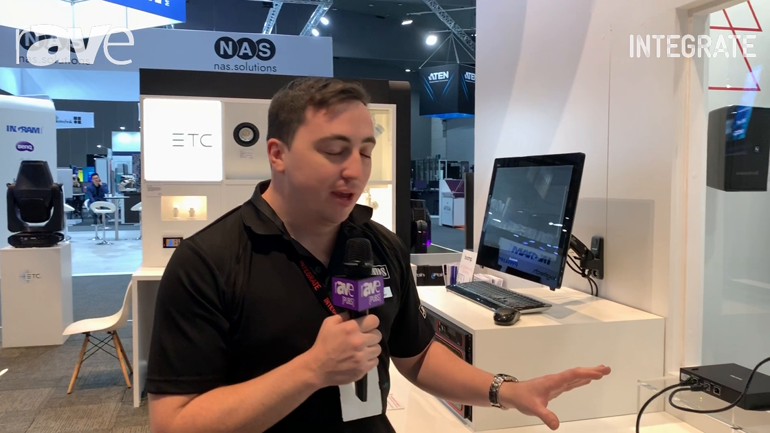 Integrate 2019: Biamp Intros the New Parlé Ceiling and Table Microphones on the Jands Stand