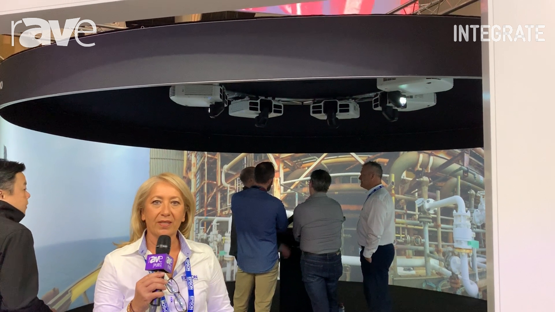 Integrate 2019: Epson Demos the LightScene EV-100 Projector With Free Content Management Software