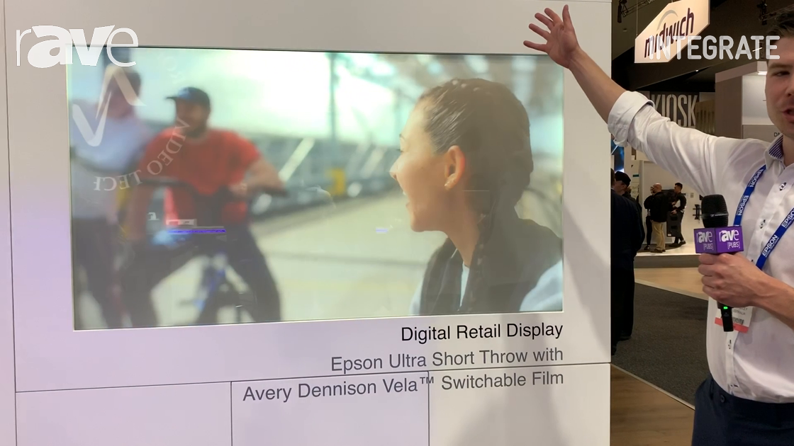 Integrate 2019: Epson Highlights Its Ultra Short Throw with Avery Dennison Vela Switchable Film