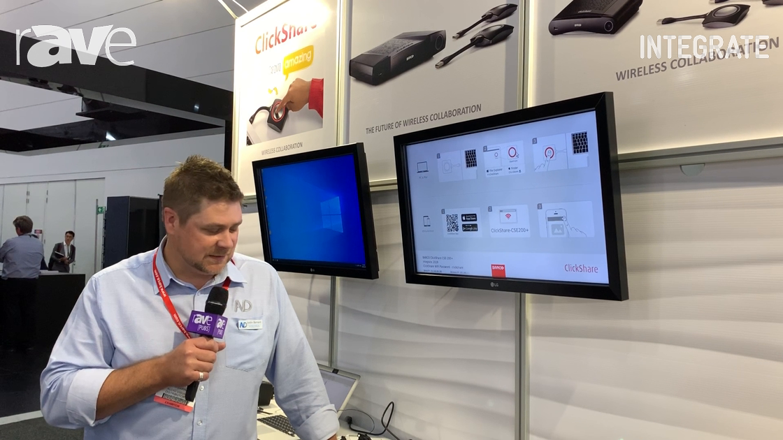 Integrate 2019: Barco Showcases the New ClickShare CSE200+ at AV Distributors