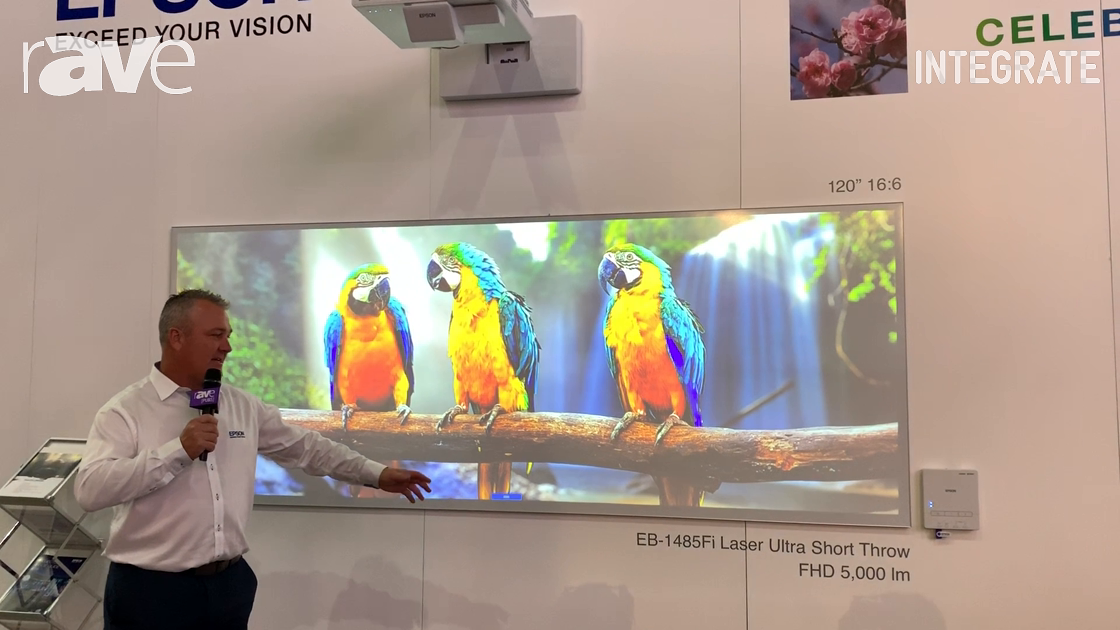 Integrate 2019: Epson Showcases the EB-1485Fi Ultra Short Throw Laser Projector