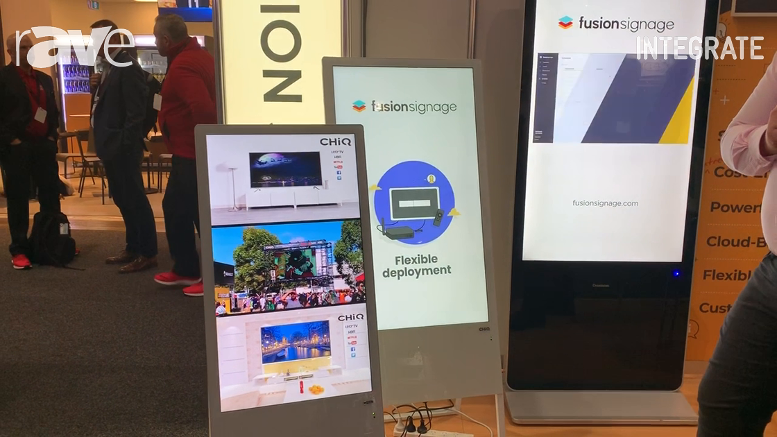 Integrate 2019: CHiQ Shows Its Easel and Kiosk Signage Monitors with Embedded Android Player