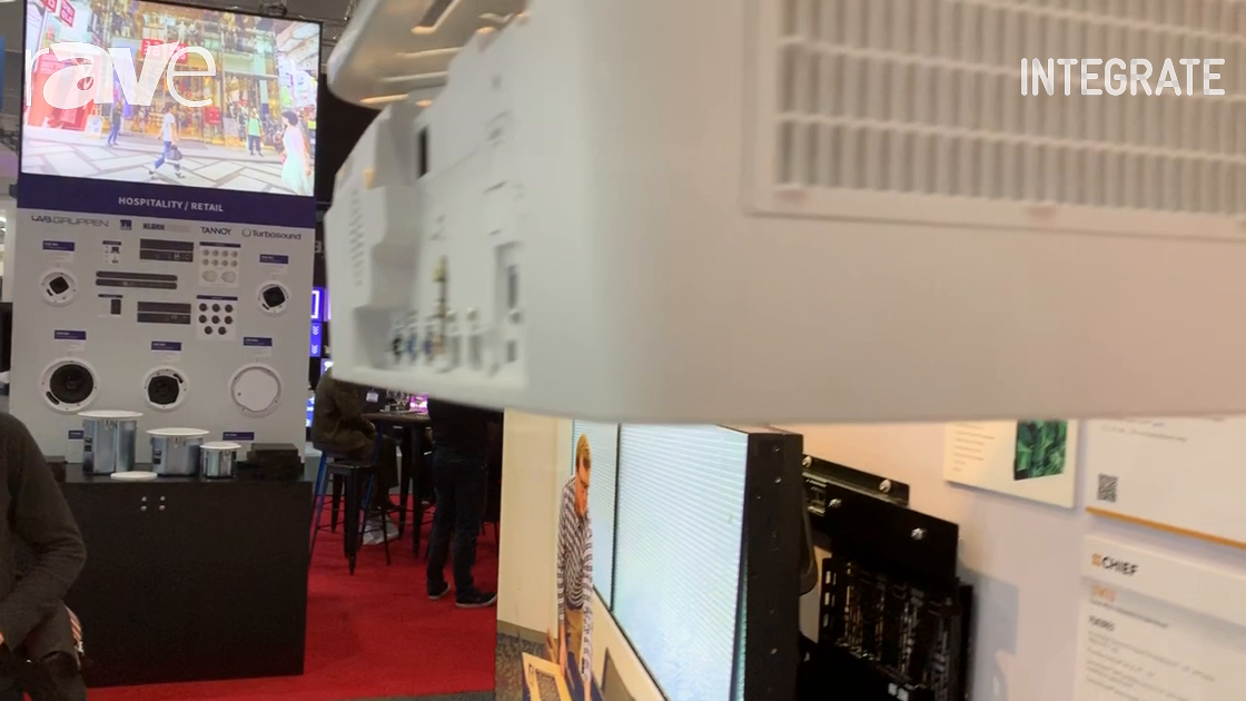 Integrate 2019: Chief Explains the WMA1S Single-Stud Projector Wall Mount on the AV Supply Stand
