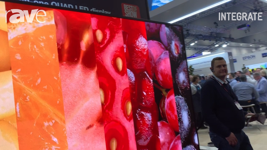 Integrate 2019: Optoma Explains the FHDQ130 Pre-Packaged 130″ QUAD LED Display at Corsair Solutions