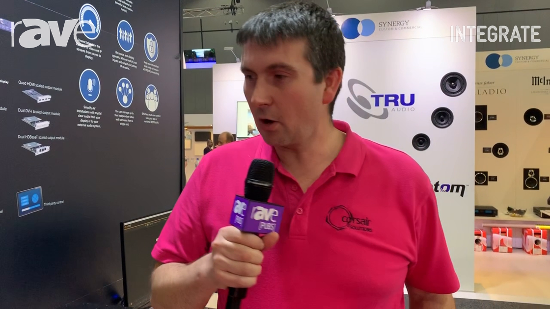 Integrate 2019: tvONE Demos the New CORIOview Multi-Window Processor in the Corsair Solutions Stand