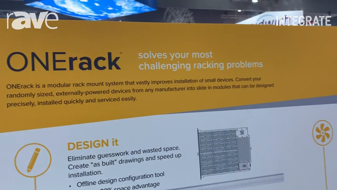 Integrate 2019: tvONE Demos the ONErack Rack Mount System in the Corsair Solutions Stand
