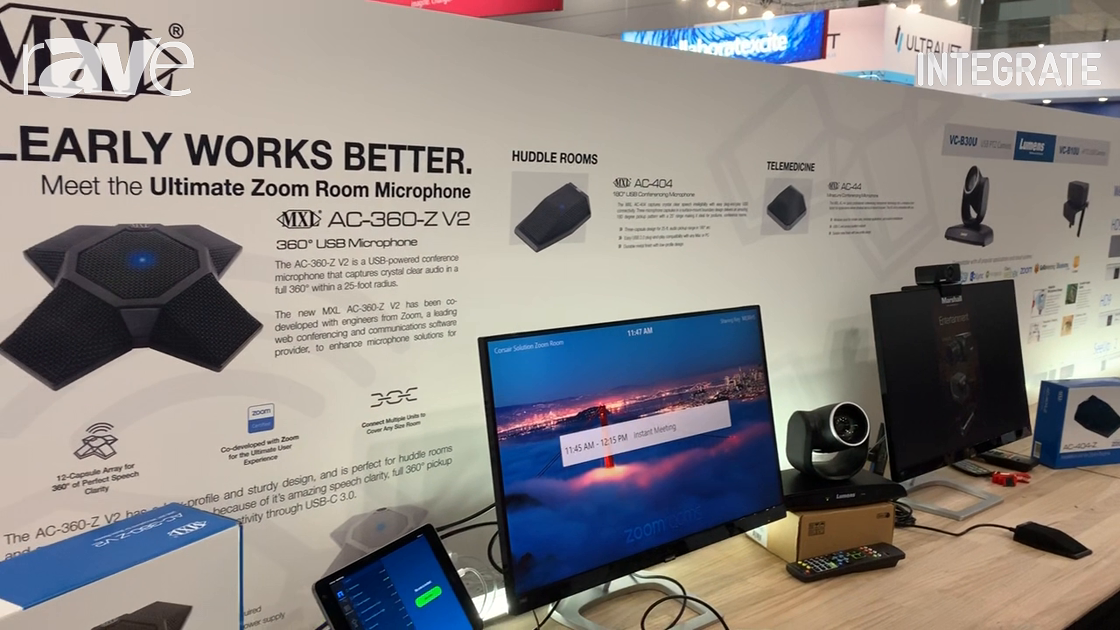 Integrate 2019: Corsair Solutions Demos the Full Line of UCC MXL Microphones and Zoom-Certified Mic