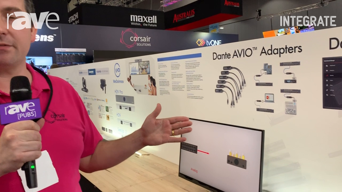 Integrate 2019: Corsair Solutions Introduces the Audinate Line of AVIO Adapters