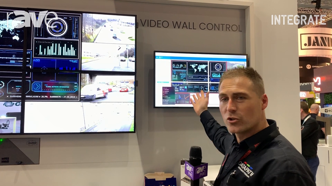 Integrate 2019: Datapath Shows WallControl 10 Software, iolite for Video Wall Control at Midwich