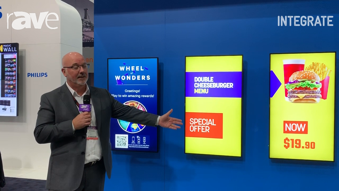 Integrate 2019: OMMA Sign Overviews Its Digital Signage Software Solutions on the Philips Stand