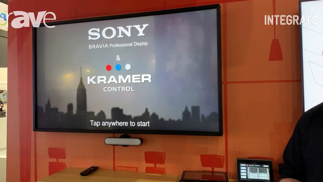 Integrate 2019: Kramer Shows Off Kramer Control Suite on a Bravia Display on the Sony Stand