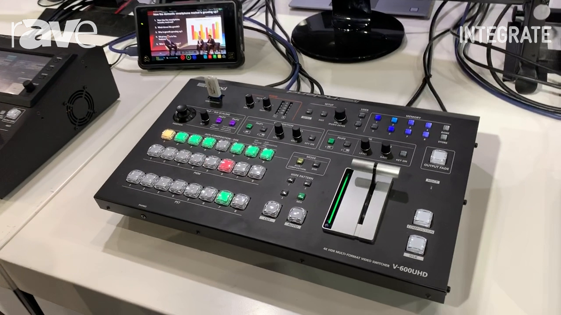 Integrate 2019: Roland Discusses V-600UHD 4K Video Switcher with Built-In Scaling