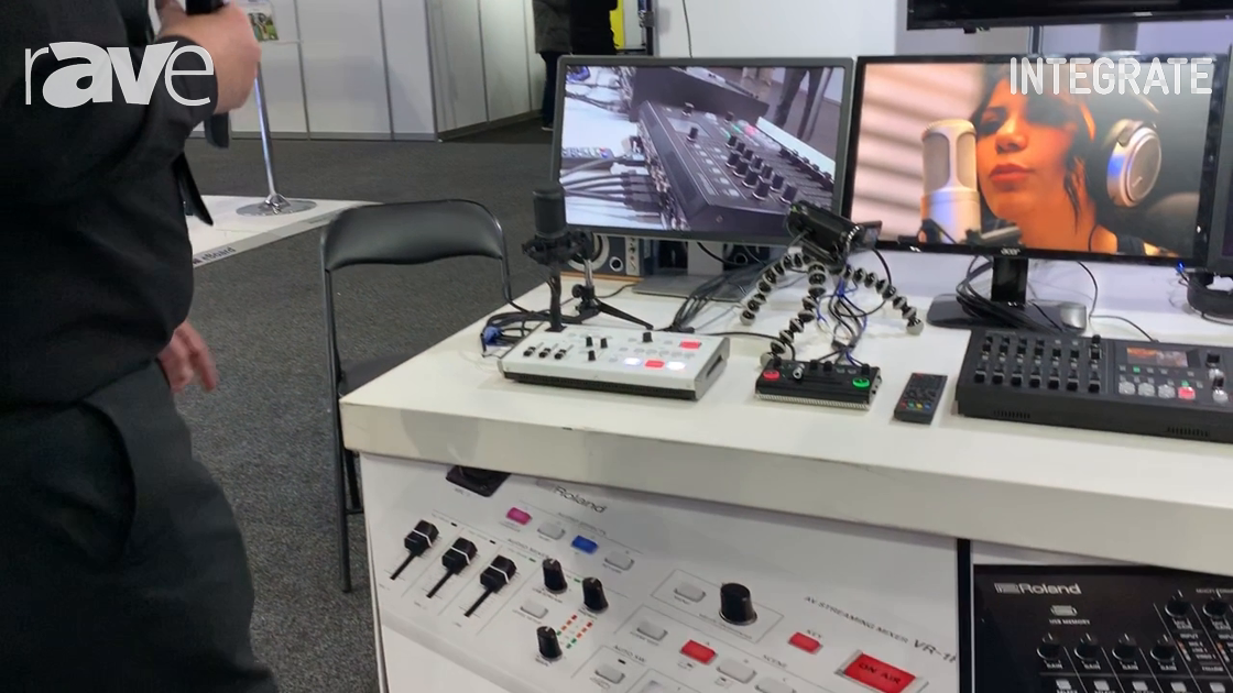 Integrate 2019: Roland Shows VR-1HD AV Streaming Mixer with Three Video Inputs, Two Audio Inputs