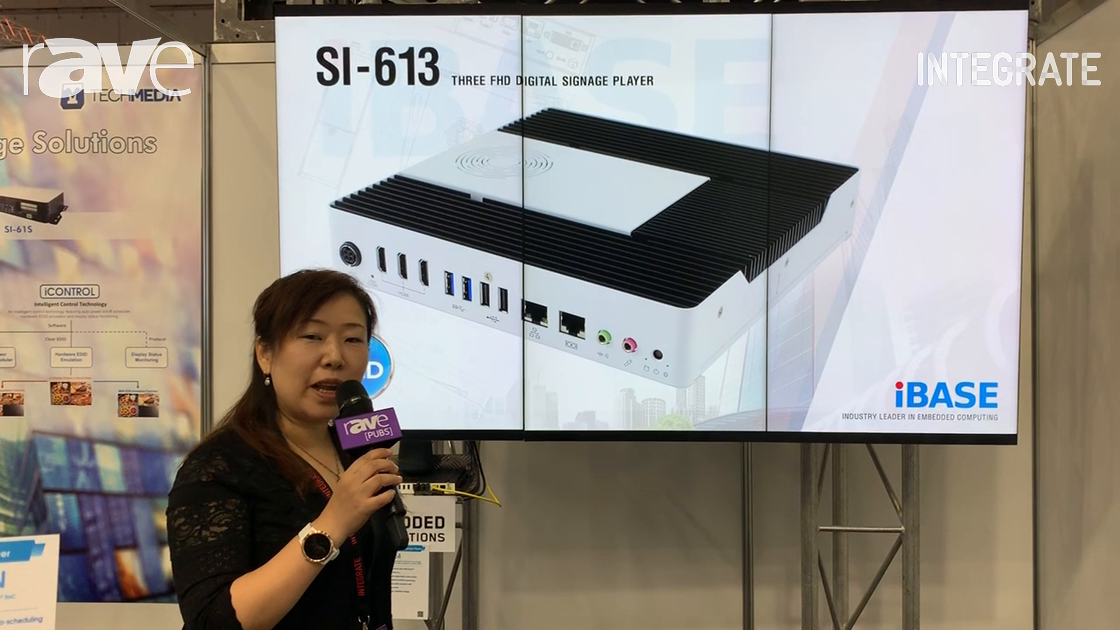 Integrate 2019: IBASE Technology Talks About SI-324 4K HDMI 2.0 Digital Signage Player