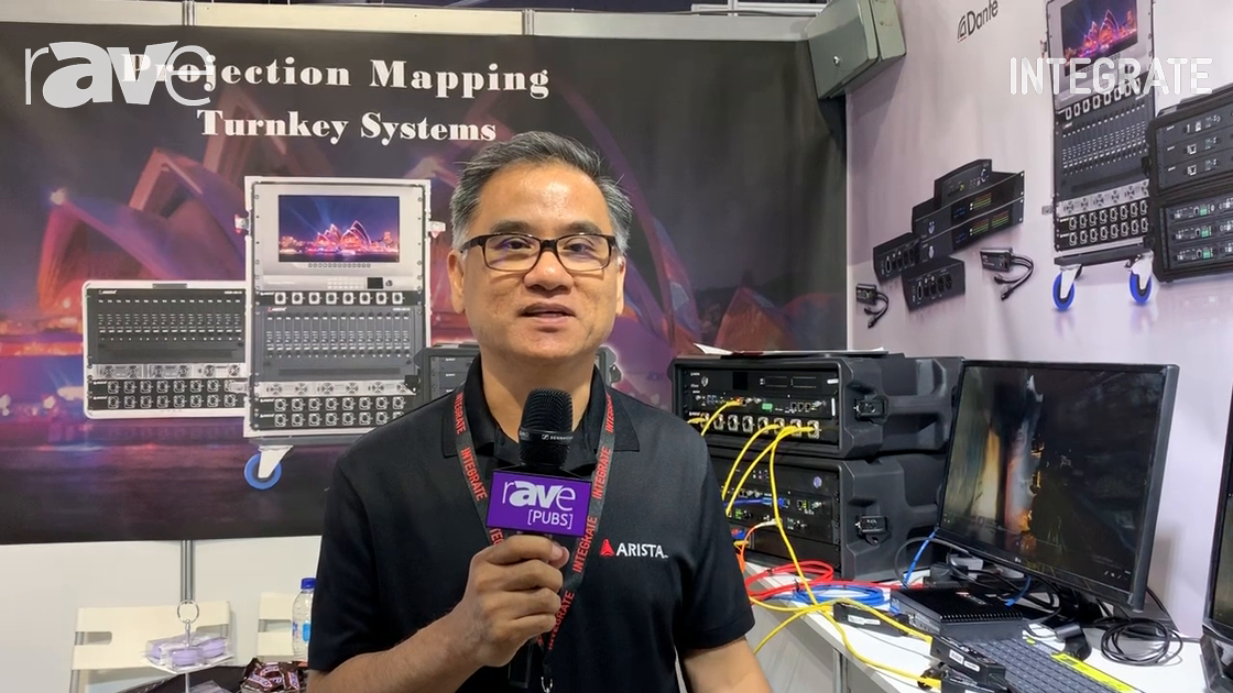 Integrate 2019: Arista Corporation Features the Dante-Enabled Two-Channel Analog In/Out Adapter