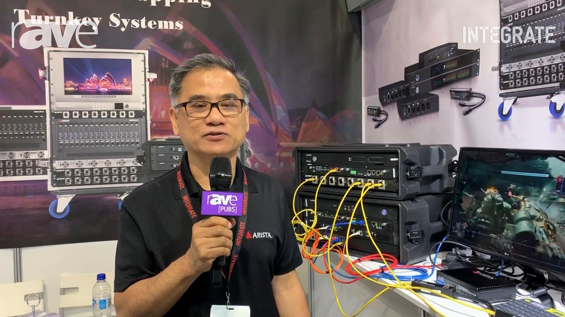 Integrate 2019: Arista Corporation Overviews IP FlashCaster SDVoE Alliance AV-over-IP System