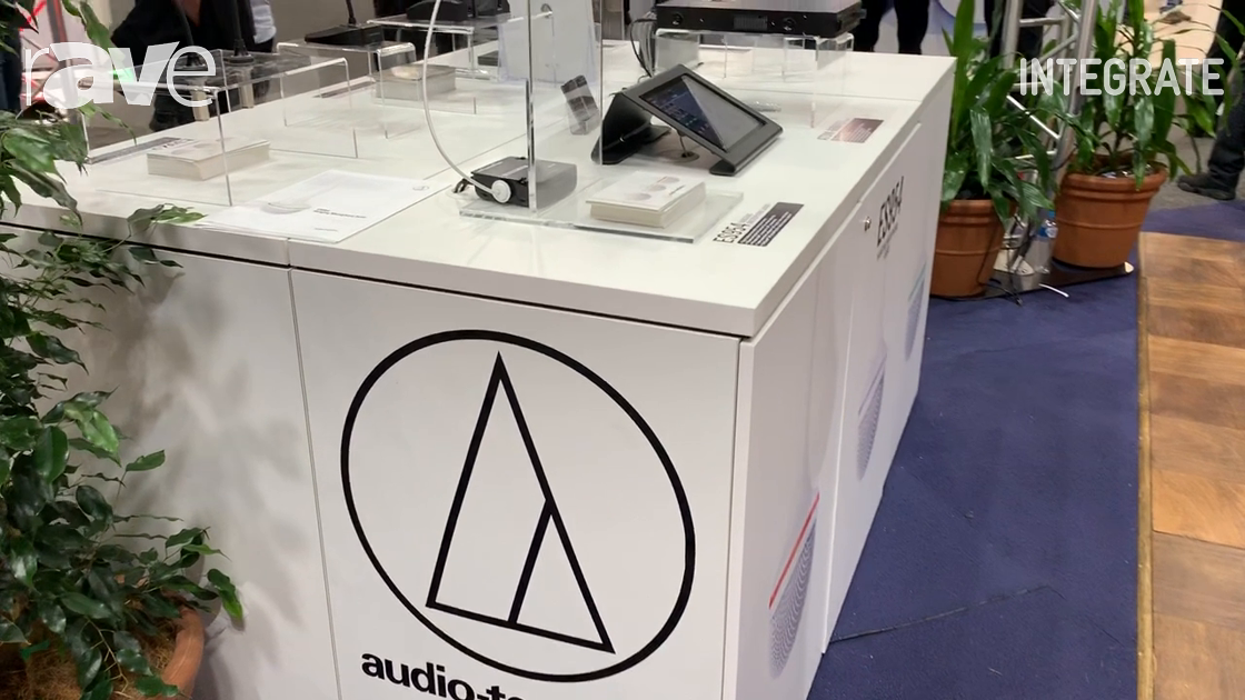 Integrate 2019: Audio-Technica Shows ES954 Hanging Microphone Array on Technical Audio Group Stand