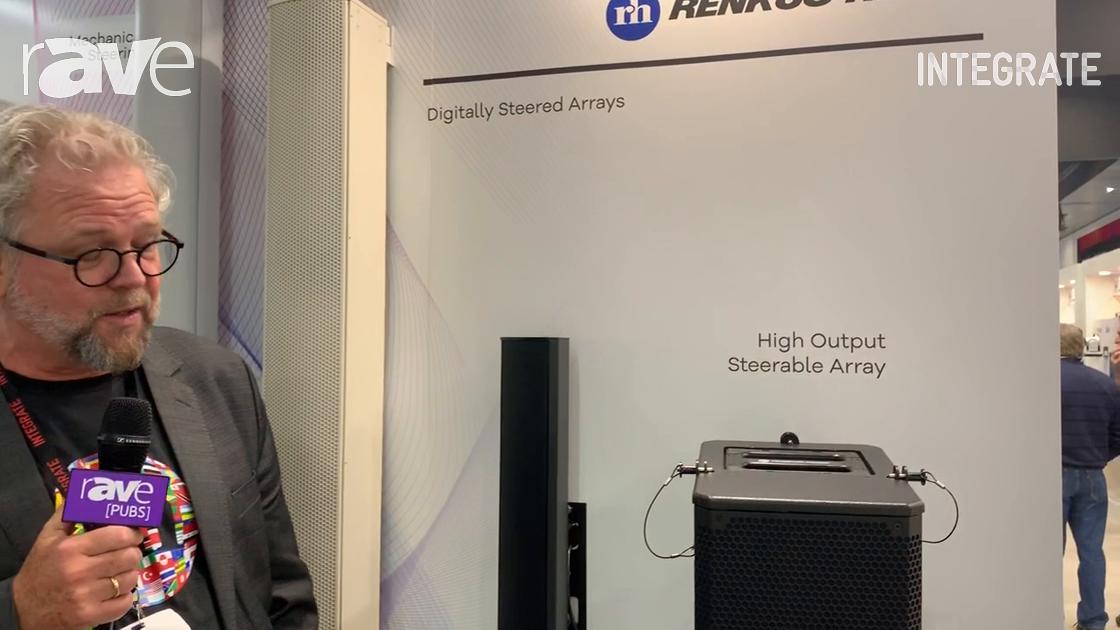 Integrate 2019: Renkus Heinz Shows Off DC12 Compact Beam-Steerable Line Array Loudspeaker