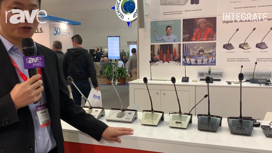 Integrate 2019: Taiden Presents Digital IR Wireless Conference System for Congress Applications