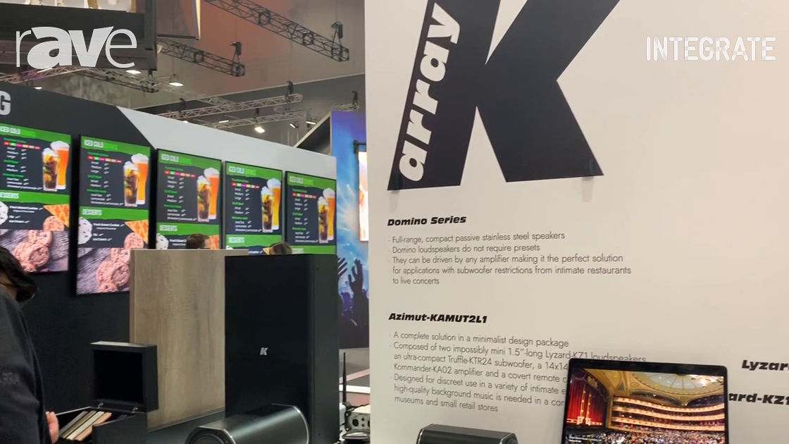 Integrate 2019: K-array Shows Azimut-KAMUT2L1 Audio System With Mini Speaker With 1/2 Inch Driver