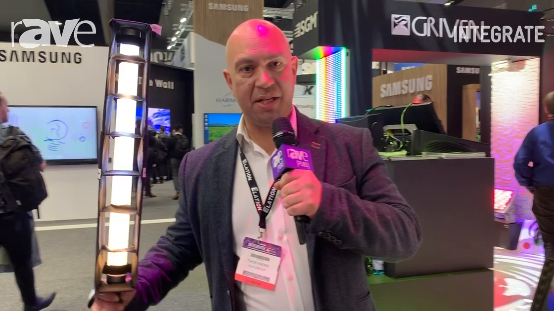 Integrate 2019: Astera Showcases Helios Tube Lighting Fixture on the ULA Group Stand