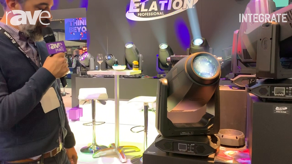 Integrate 2019: Elation Professional Exhibits Artiste Monet Spot Lighting Fixture