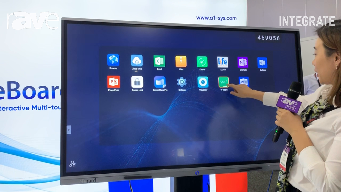 Integrate 2019: A1 Systems Demos eBoard Interactive Multi-touch Display