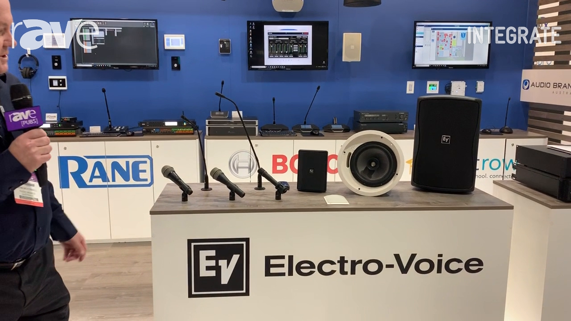 Integrate 2019: Audio Brands Australia Shows Electro-Voice Range, Including Mics and Speakers
