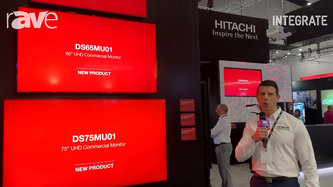 Integrate 2019: Hitachi Intros the Affordable DS75MU01 UHD Commercial Monitor Series
