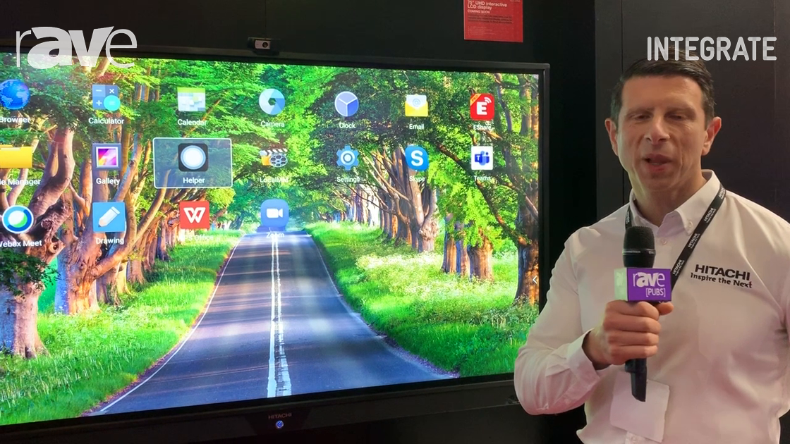 Integrate 2019: Hitachi Australia Intros New UHD Interactive LCD Displays With Thin IR Technology
