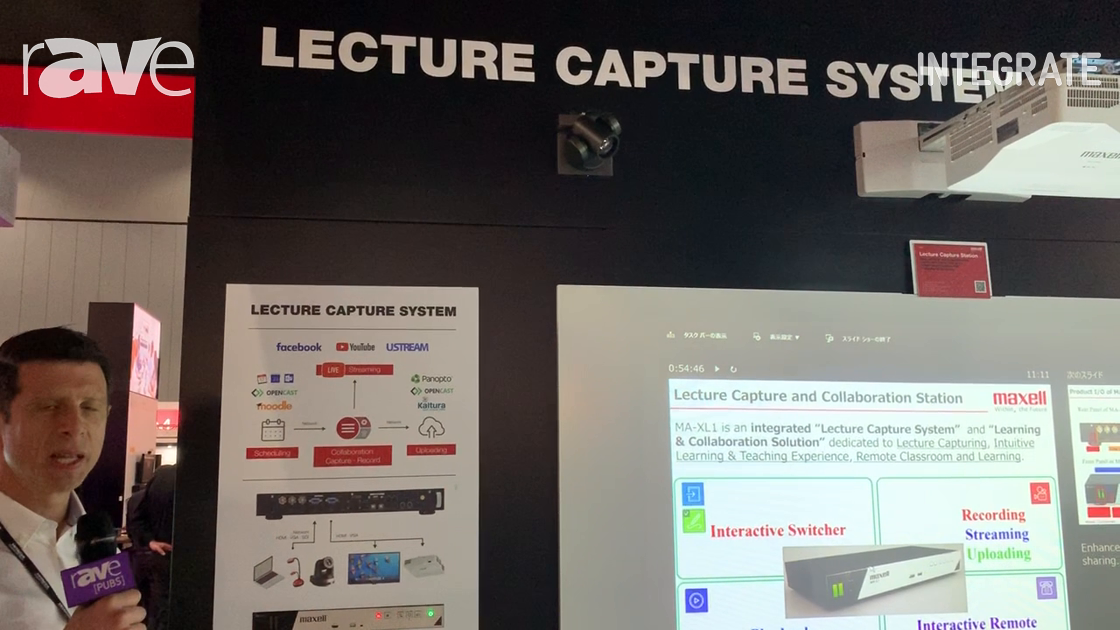 Integrate 2019: MaxellProAV Displays Its Lecture Capture and Collaboration System at Hitachi