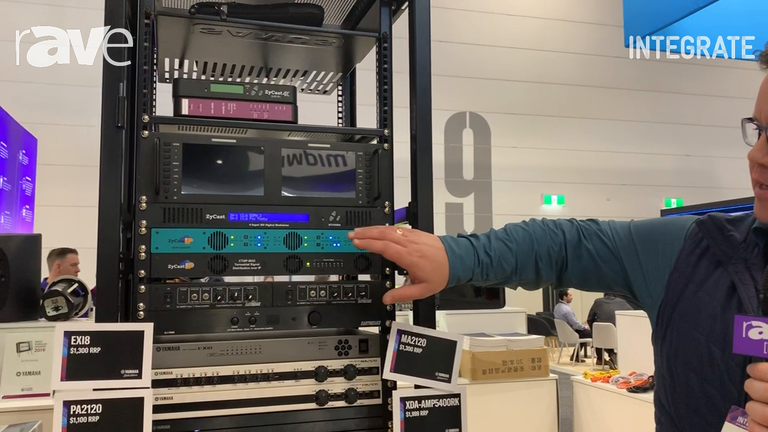 Integrate 2019: Radio Parts Shows ZyCast Technology Enoders and Modulators, Including HDIP-404DHP