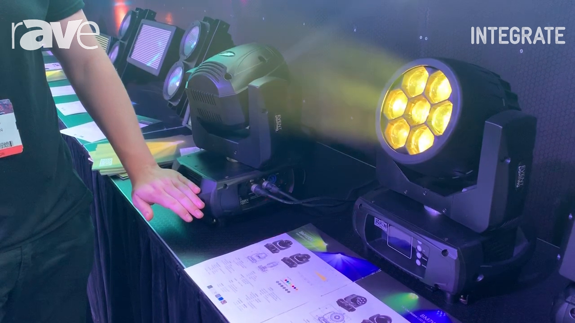 Integrate 2019: Event Lighting Exhibits Its Battery-Operated Moving Head Light Fixtures