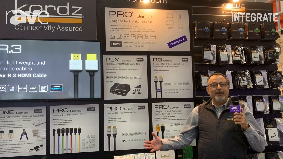 Integrate 2019: Kordz PRO Features the Slim Profile Pro Series Patch Cords